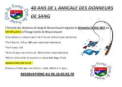 40 ANS DON DU SANG SAFARI PECHE