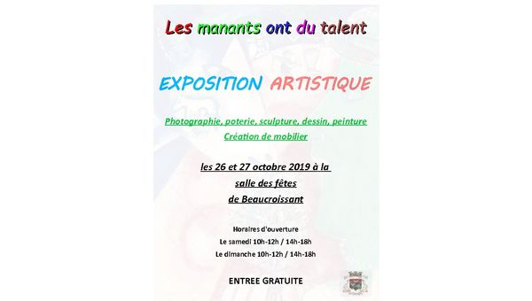 Les manants ont du talent- Edition 2019